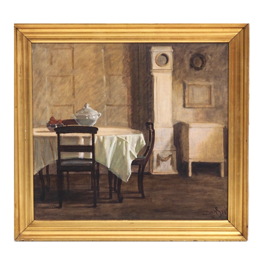 Danish interior painting, 1923. - € 2.000