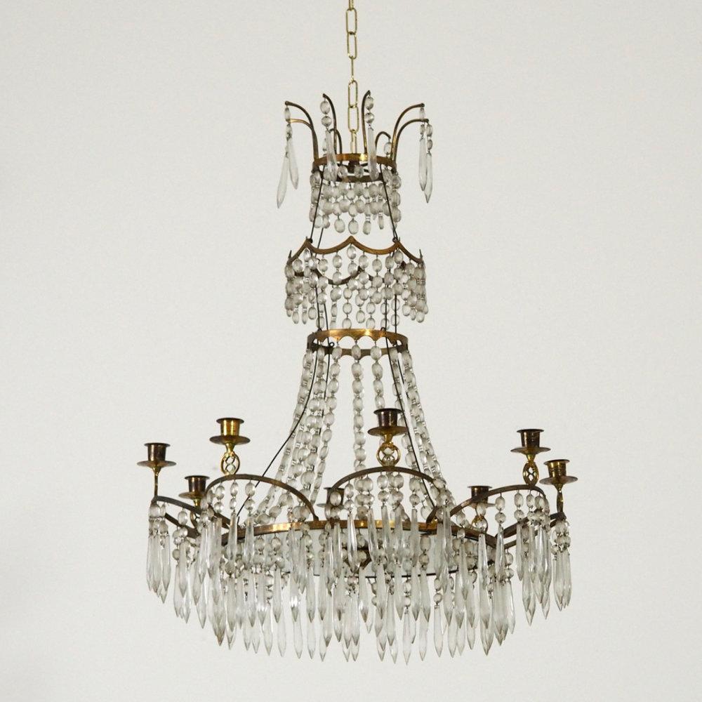 Gustavian style chandelier, 19th C. - € 1.300