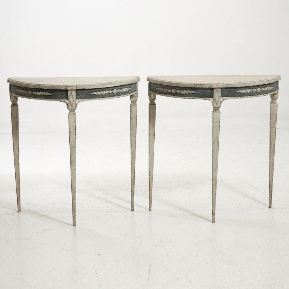 Swedish demi-lune tables,19th C. - € 2.000