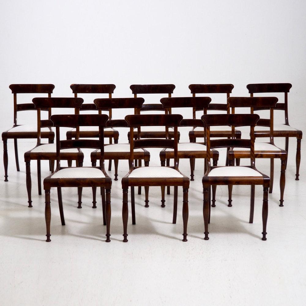 Scandinavian chairs, ca. 1820-30. - € 3.200
