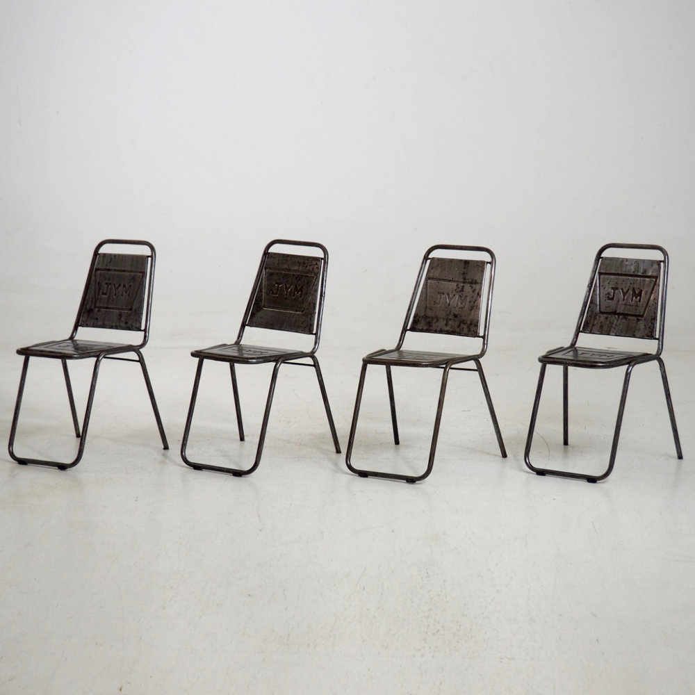 french cafe chairs. Four French Cafe Chairs, Beginning 20th C. Chairs