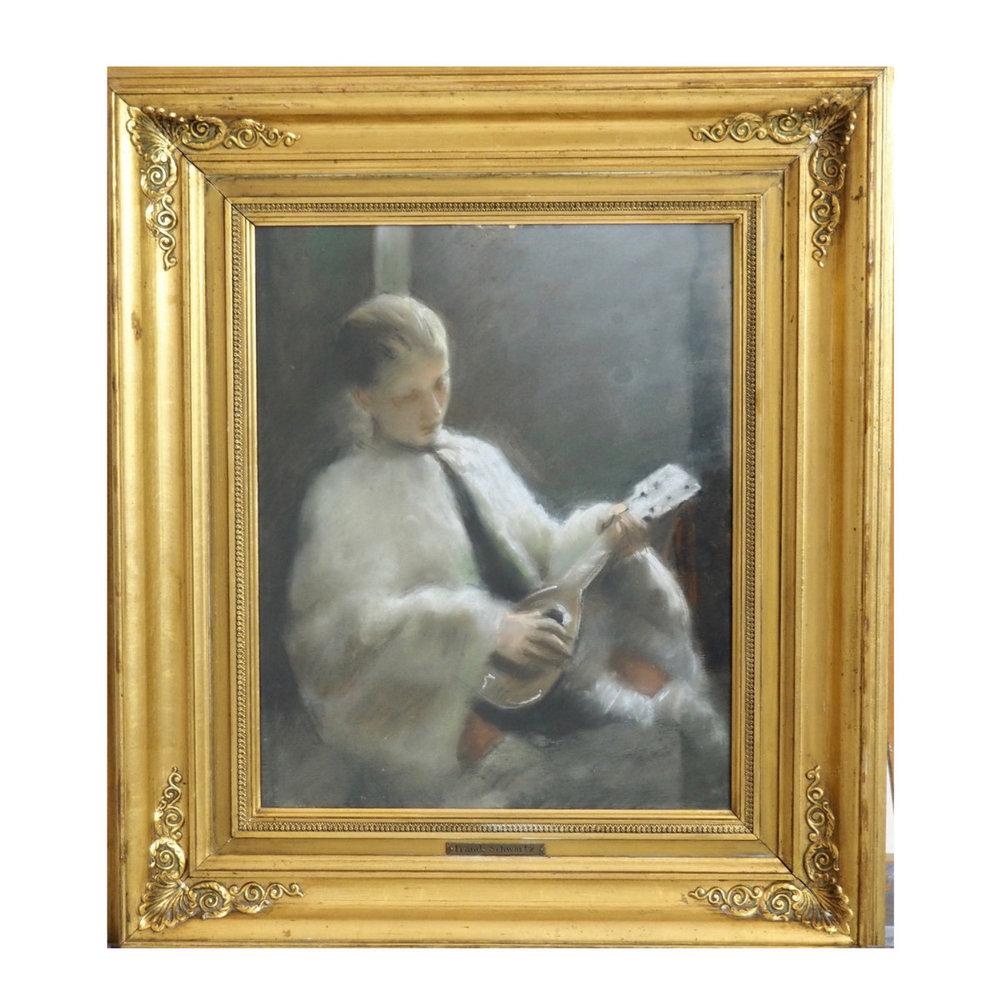 Fine pastel by Frands Schwartz. - € 1.300