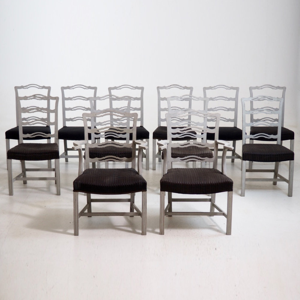 Scandinavian dining chairs, 19th C. - € 4.000