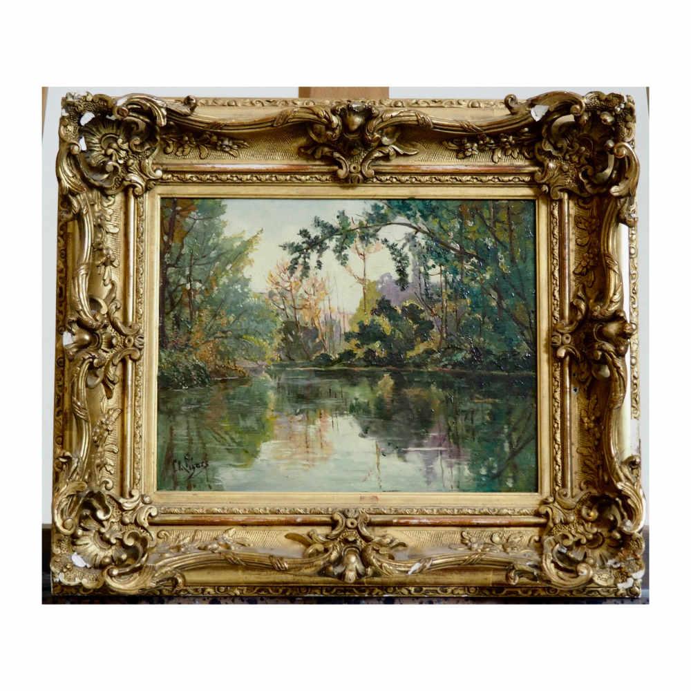 Fine impressionistic painting. - € 1.000