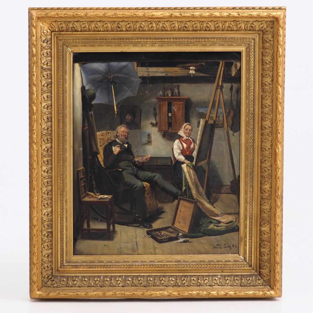 Painting, Waldemar Knut Gustaf Tode. - € 2.000