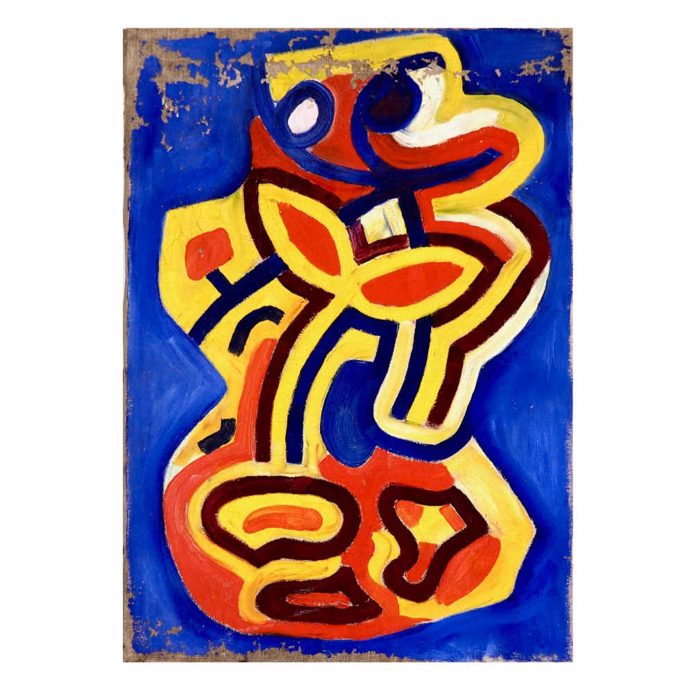 Fine Cobra painting, acryl on canvas. - € 1.500