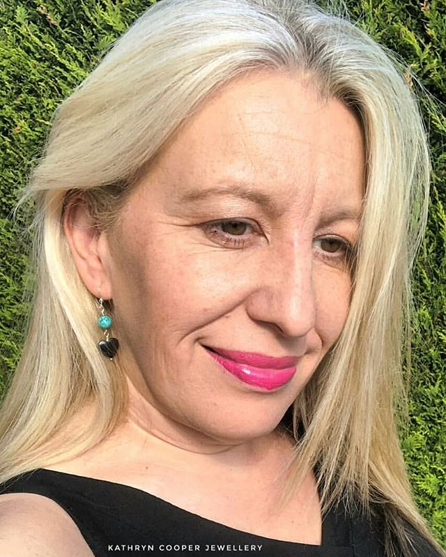 The gorgeous @spanishaprilx wearing her @kathryncooperjewellery Turquoise and Haematite earrings yesterday.  The perfect pic for day 6 of  @jewellersacademy  #30daysofjewellery challenge. 💎💙💎💙💙💎 . . . . . . #turquoise #heartjewellery #turquoisejewellery #bespokejewellery #turquoiseearrings #jewelleryshopping #haematite #jewelleryaddict #hmuk  #madeinbritain  #ukblogger  #kathryncooperjewellery #blogger  #outfitinspiration  #jewelleryinfluencer #whattowear #wswib  #giftsforher #birthdaygift  #jewellerylover #beadedjewelryofinstagram #beadedjewelryinfluencer