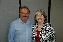 Karen and former Ward 3 City Councilor, Ed Peterson who endorses Karen's run for City Council.