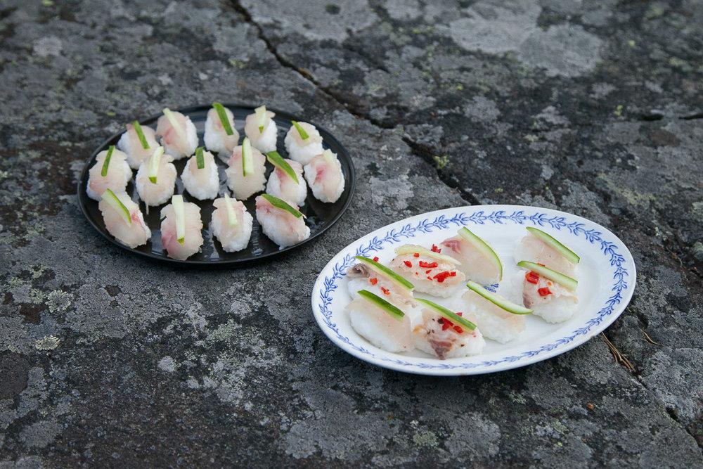 sushi nigiri siikaceviche kesäruokaa ruokablogi