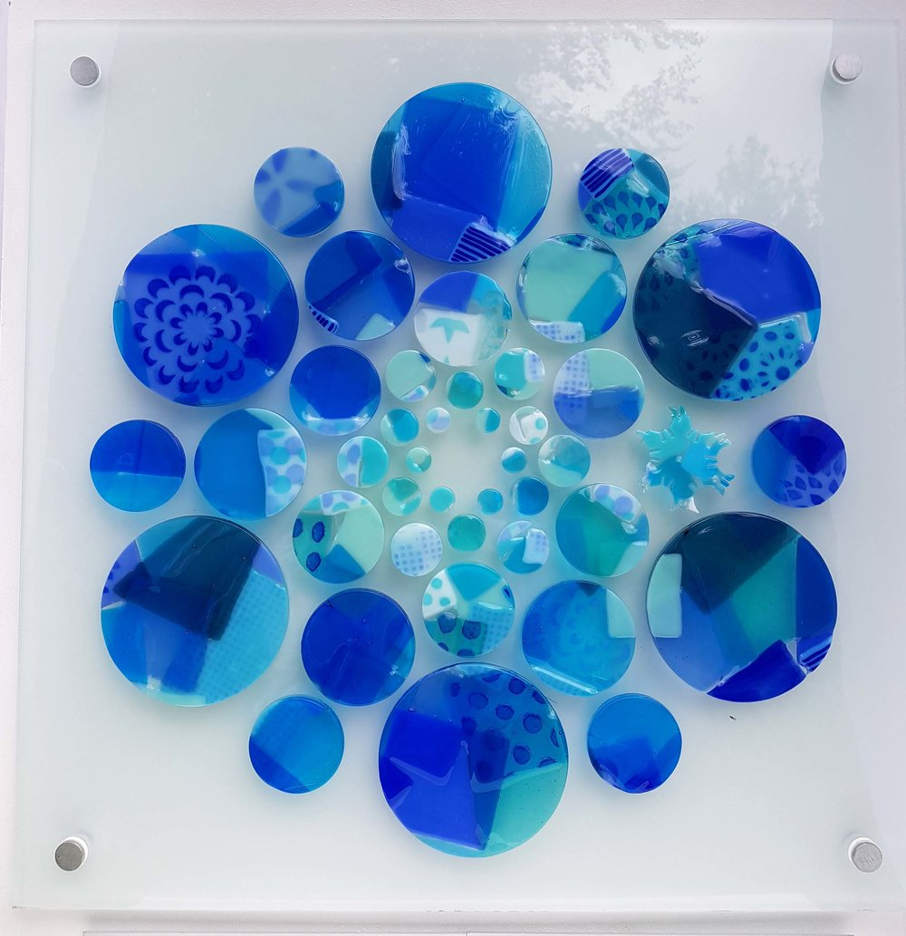 Life, with Symbol, fused Bullseye glass bonded onto 5 mm toughened float glass, 470 mm x 470 mm.jpg