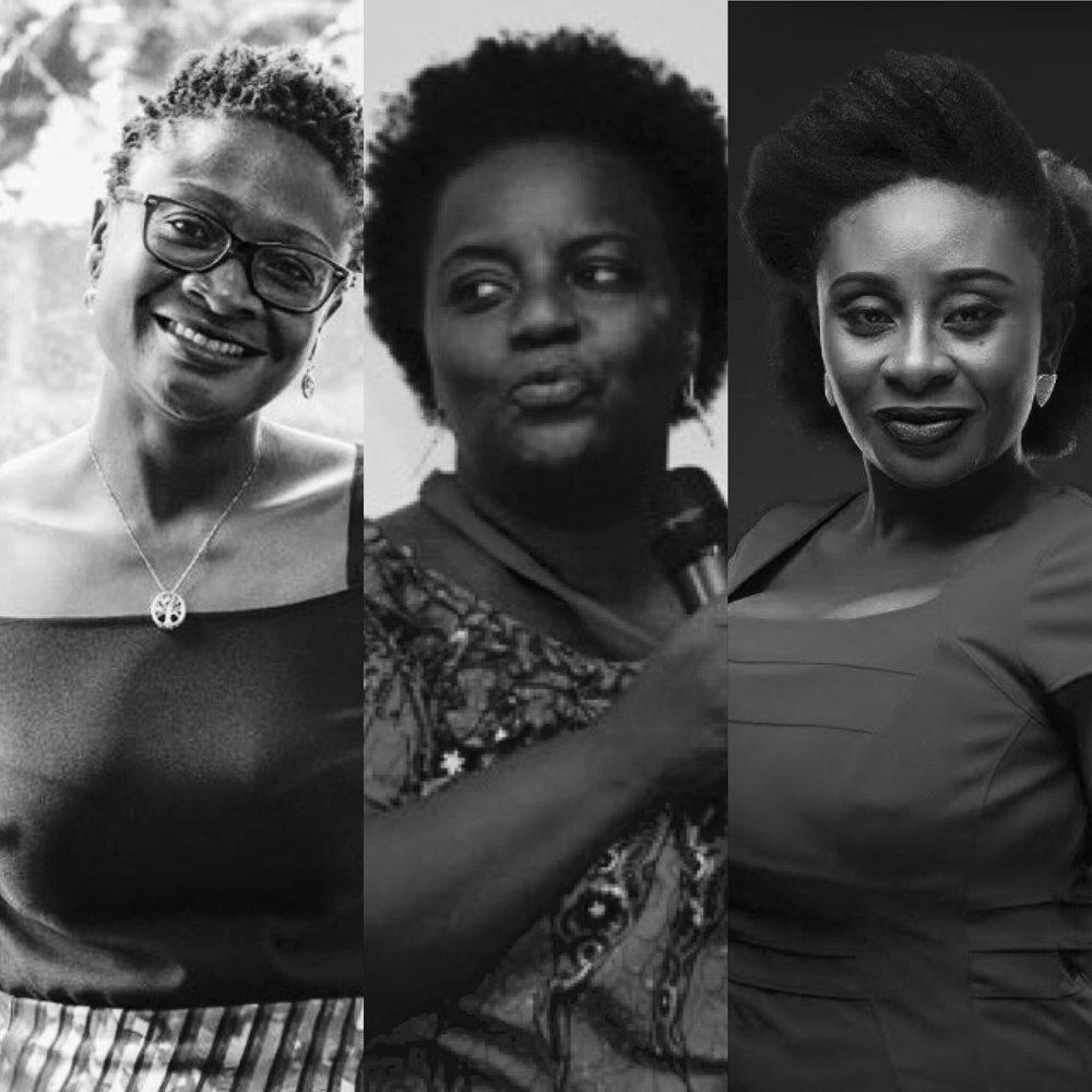 Nana Ama Agyemang Asante, Kinna Likimani & Nana Akosua Hanson