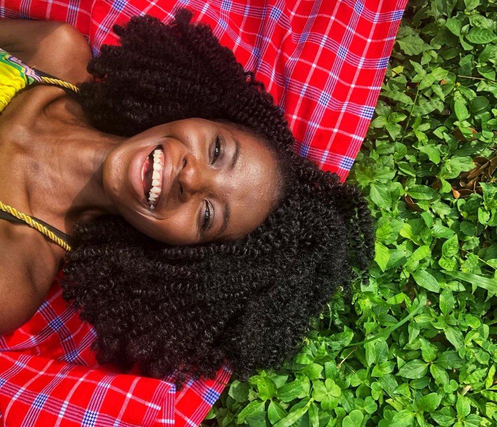 Akosua Shirley in Aburi Gardens, Eastern Region