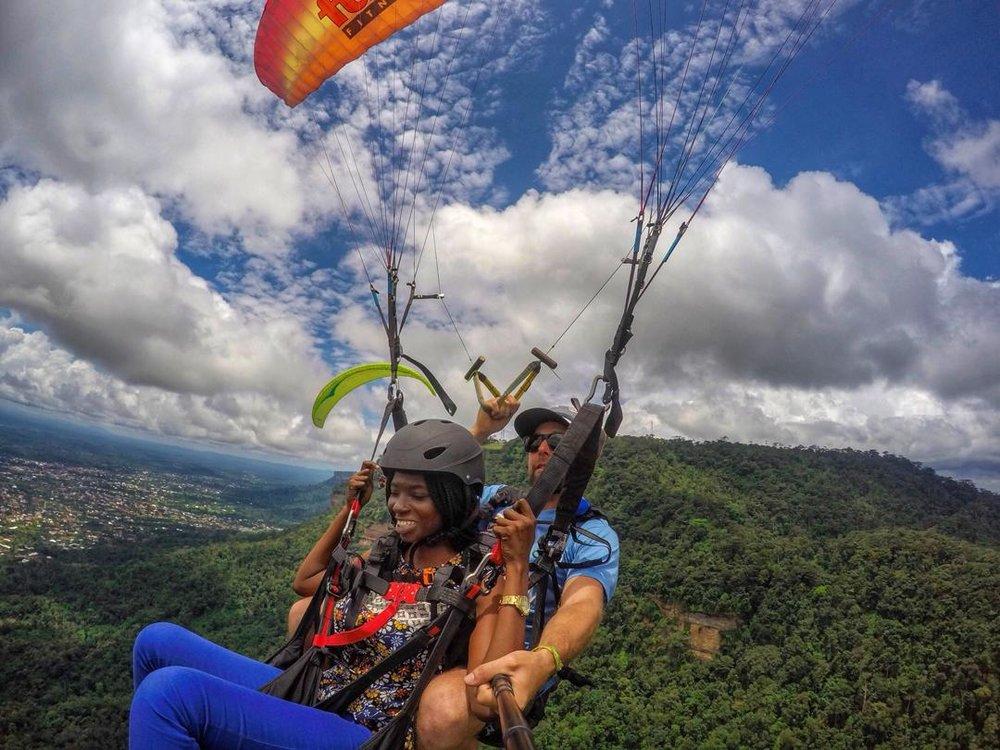 Paragliding in Kwahu, Eastern Region