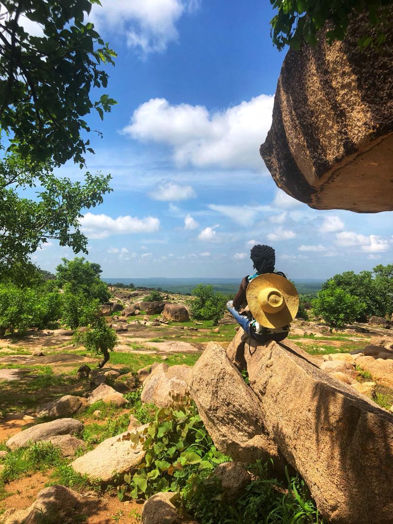 Akosua at the Tongo Hills in Bolgatanga, Upper East Region
