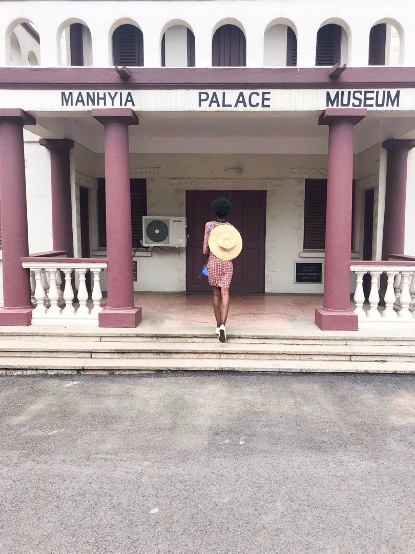 Akosua at the Manhyia Palace, home of the Ashanti King, Kumasi, Ashanti Region