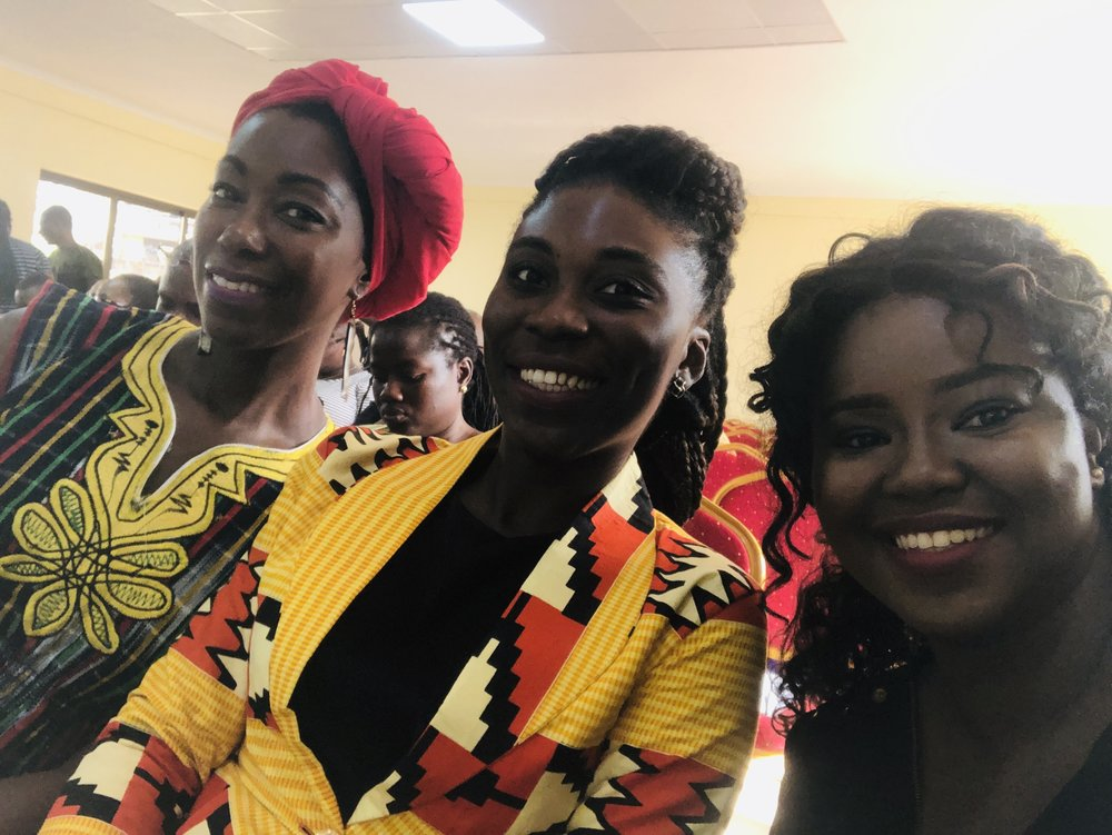 Blogger friends, Ivy Prosper and Bridget Boakye at the Year of Return Ghana 2019 Press Launch