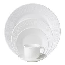 WEDGWOOD WHITE FINE BONE CHINA MADE IN ENGLAND & SOURCED  WEDGWOOD NANTUCKET BASKET, ASHLAR, & BAROQUE WHITE FINE BONE CHINA