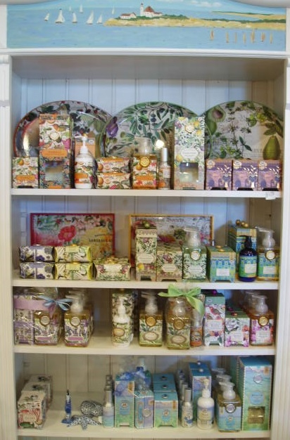 Michel Design Works Soaps, Paper Napkins,  Scented Lotions & Candles. Hostess Sets add designer flair to your casual & formal entertaining! Stop in to choose from Goldenberry's large selection