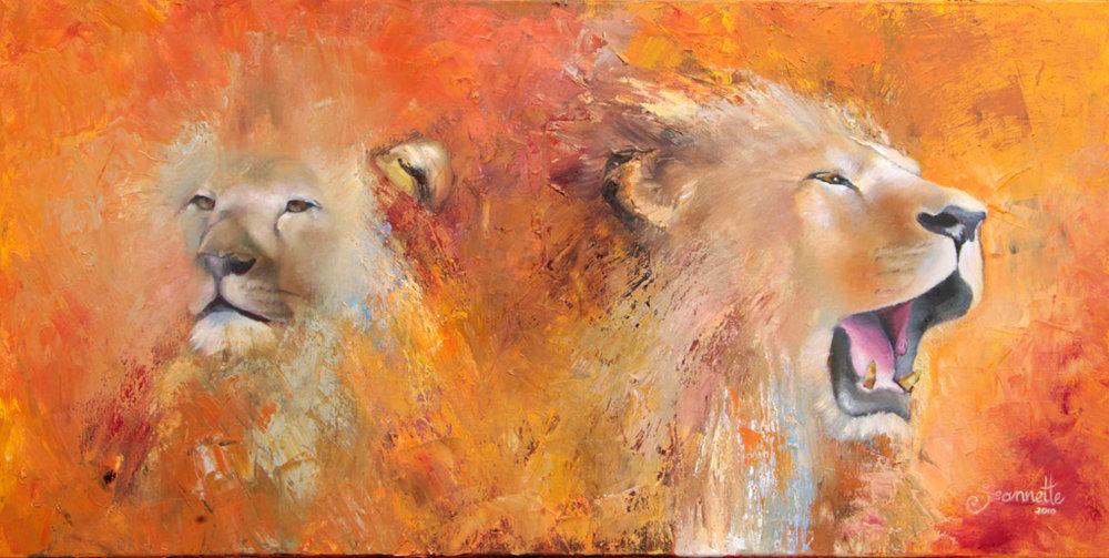 schilderij-leeuw-en-leeuwin-jeannette-van-der-vliet.jpg