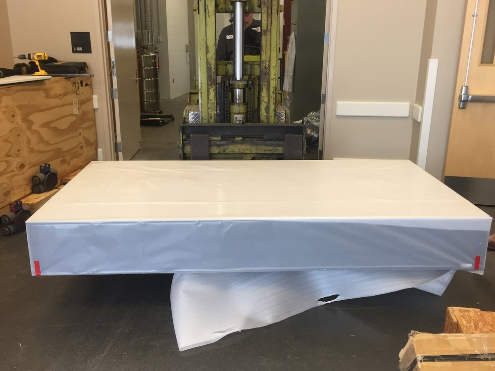 Installing our first optical table...