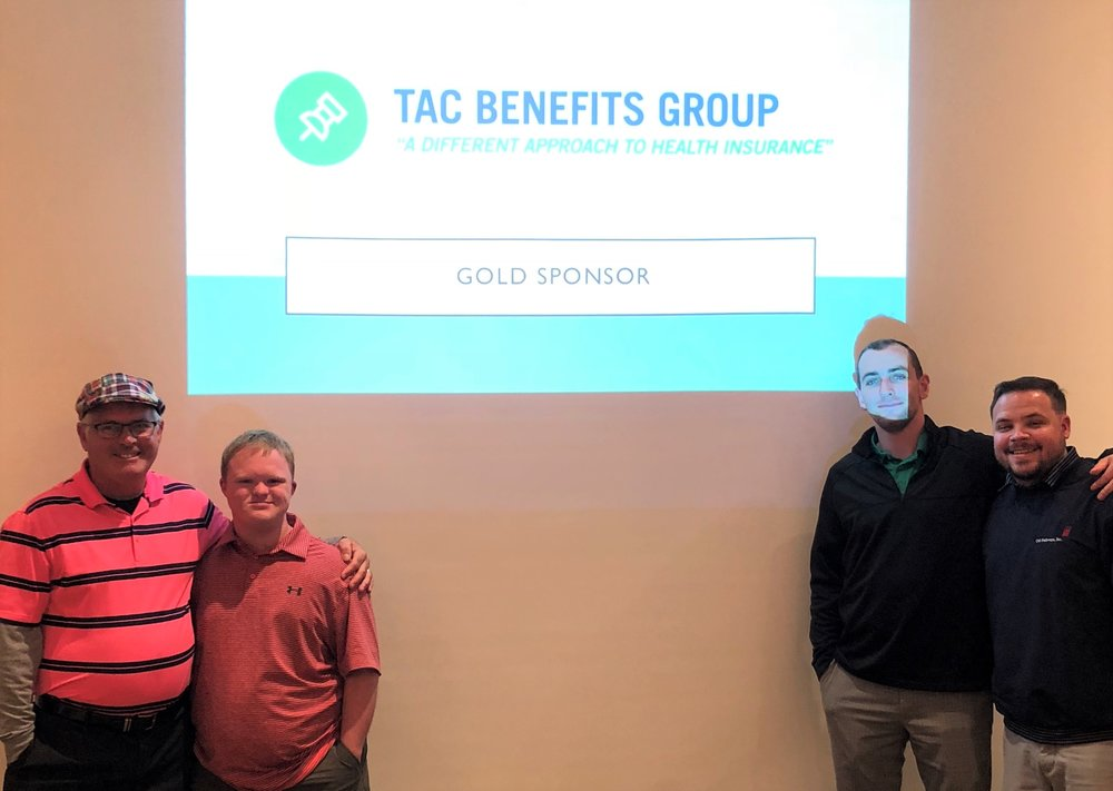TAC Benefits Group and their friend Nick attend the 2nd Annual Dr. Ralph Schrager Memorial Golf Tournament.