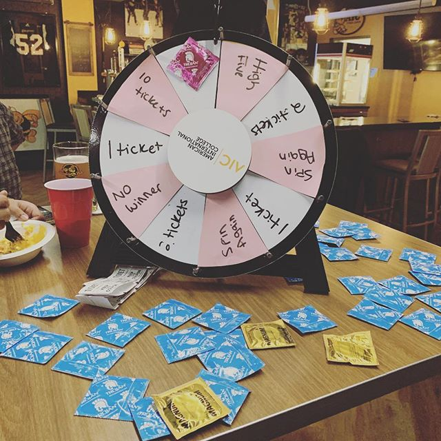 Prizes, Food and Condoms in the Stinger now!
