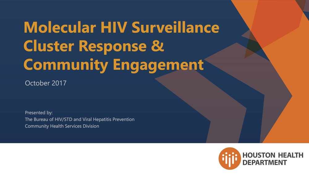 Molecular HIV Surveillance Cluster Response and Community Engagement