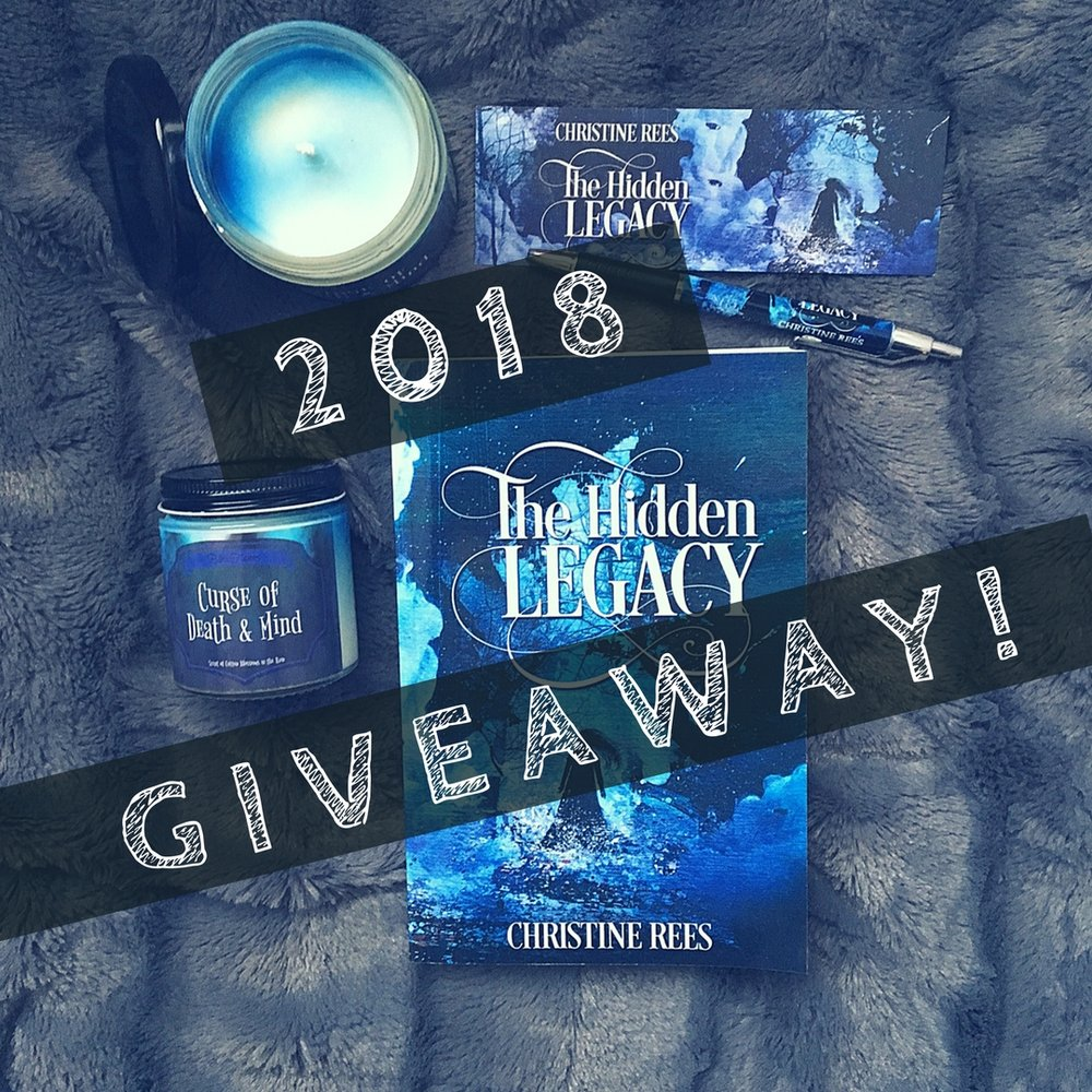 Instagram Giveaway! Winner will receive a signed paperback of The Hidden Legacy, pen, bookmark, a Curse of Death and Mind candle from Biblioflames, and a few HIDDEN prizes. Enter below for a chance to win!