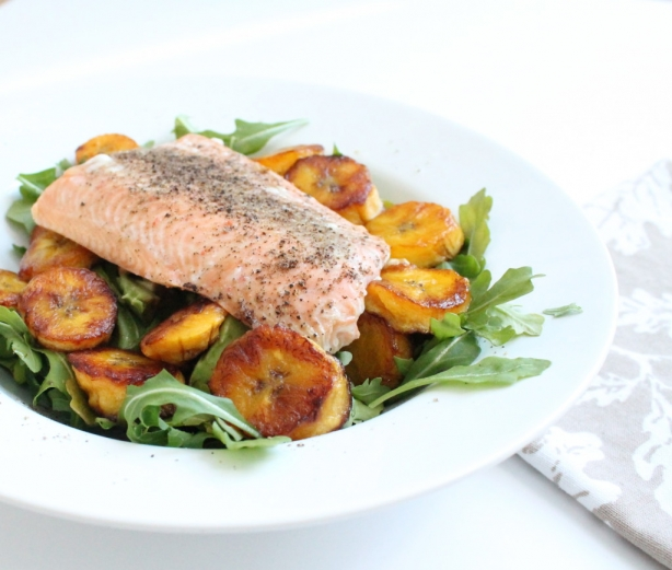 Salmon And Plantain Salad Sara Mcglothlin