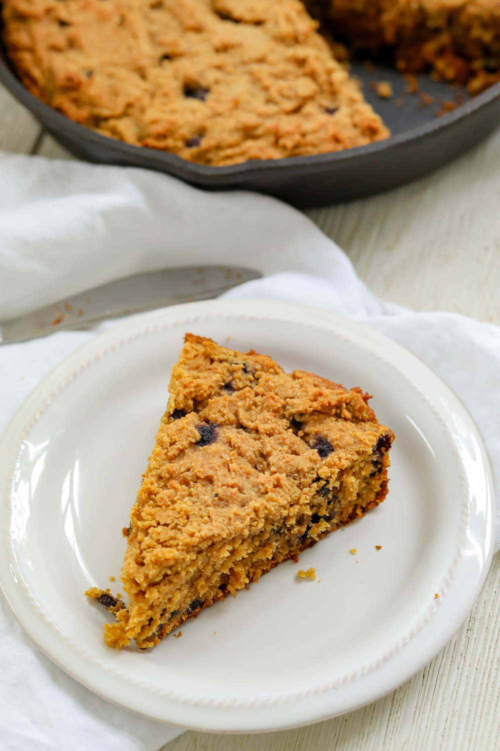 Grain-Free Blueberry Skillet Bread
