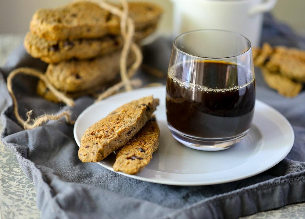 Grain-free Hazelnut Chocolate Biscotti