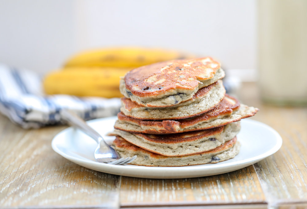Grain Free Blueberry Banana Pancakes
