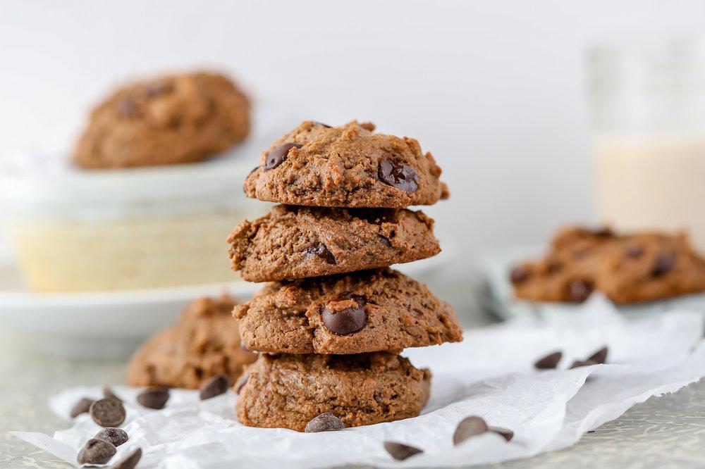 Chocolate Chip Collagen Cookies (Paleo, Grain-free)
