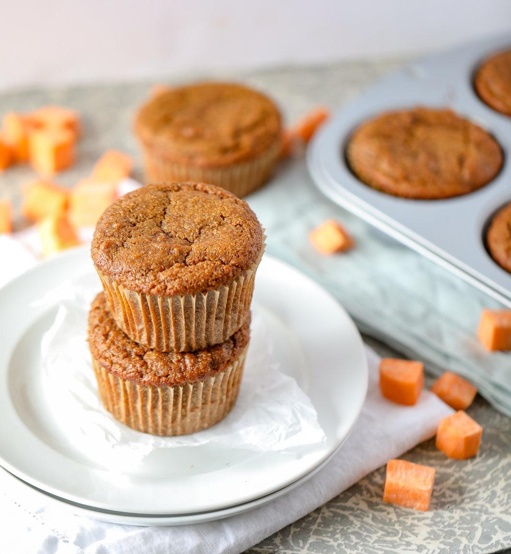 Chai-Spiced Sweet Potato Muffins (Paleo, Grain-free)