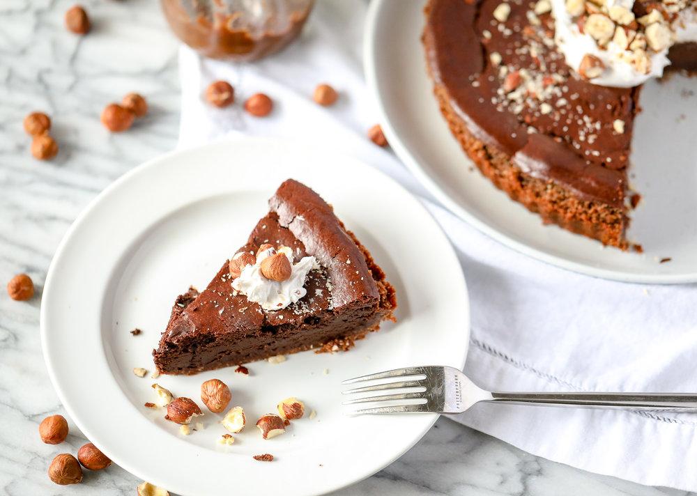 Chocolate-Hazelnut Tart (Grain-free, Dairy-free)