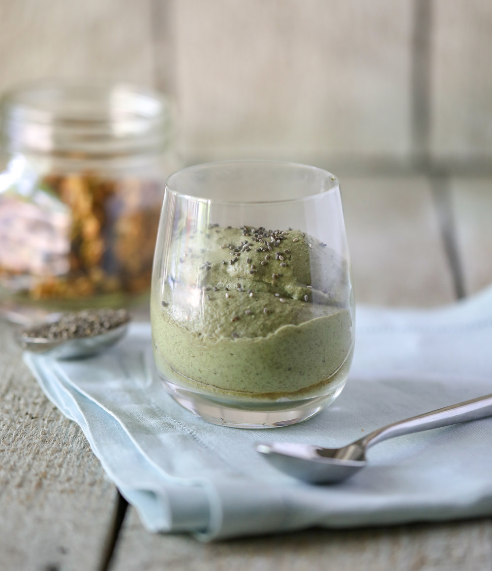Healthy Blended Green Chia Pudding