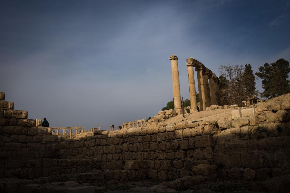 Roman ruins in Jerash, Jordan.