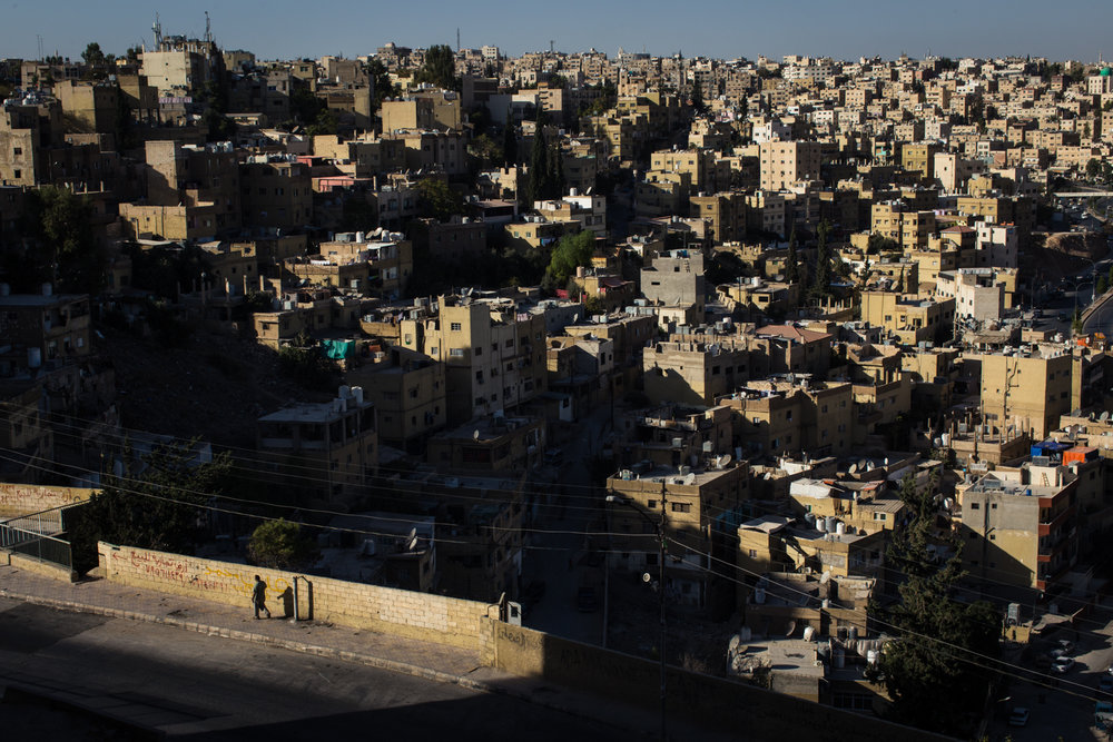 A crowded Amman neighborhood is seen from the citadel on Jebel al-Qala'a, which hosts architectural ruins from the Roman, Byzantine and Umayyad periods, and is considered one of the oldest continuously inhabited places on earth.
