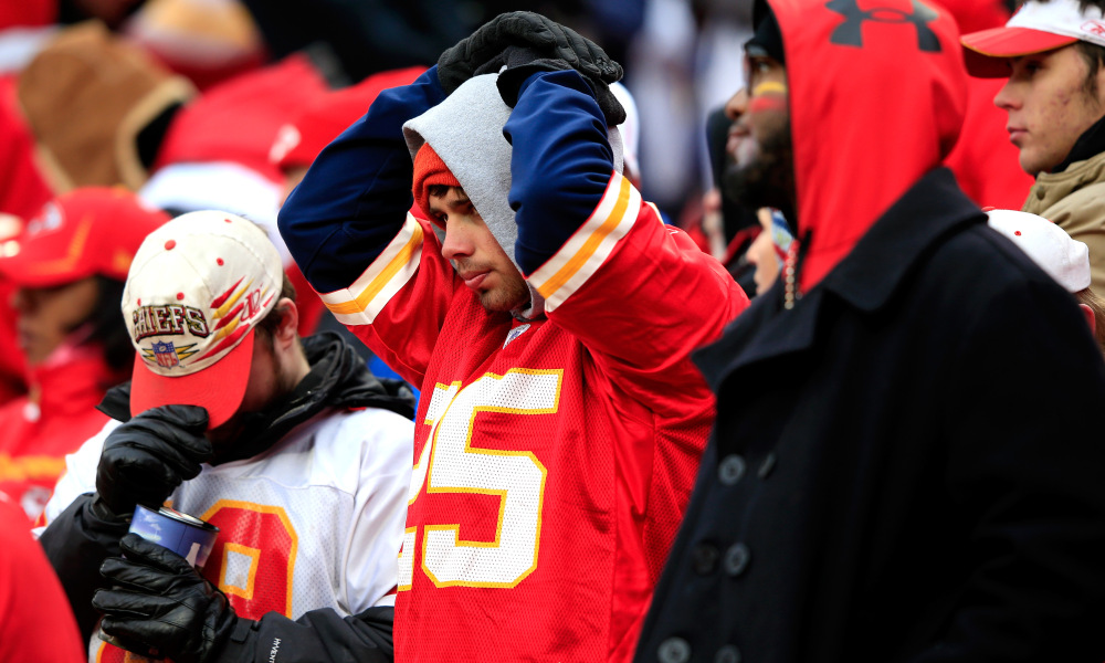 Chiefs' fans were not happy about the loss to Pittsburgh. (via Broncos Wire)