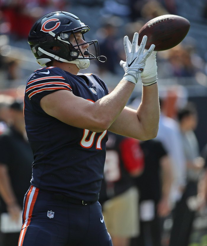 Adam Shaheen's sure hands are a great sign for the Bears. (Via thetenyardline.com)