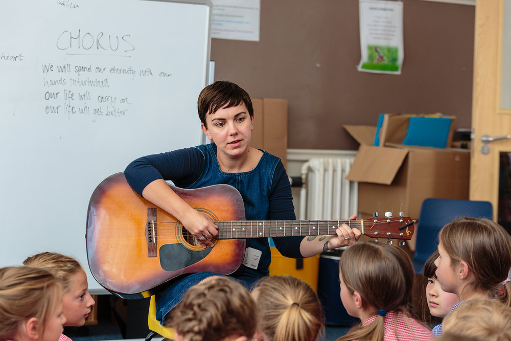 songwriting workshops - I have been involved in various songwriting and musical mentoring workshops with a range of young people of all ages and backgrounds.Image from Songwriter workshop with Norfolk & Norwich Festival 2018 © Paul Harrison