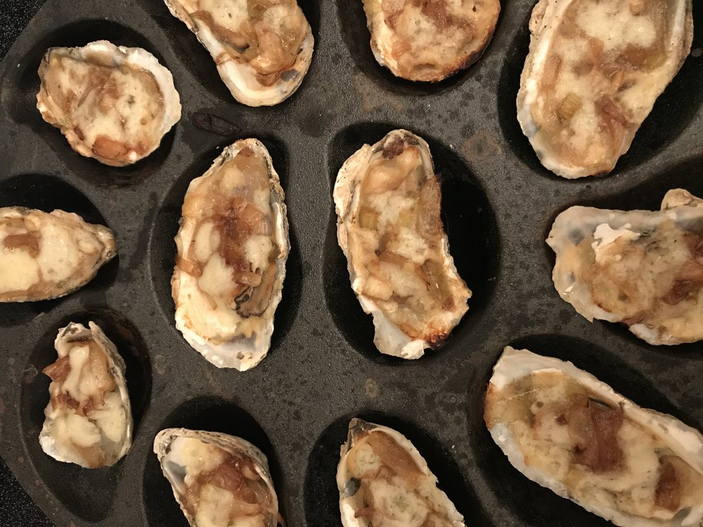 Oh la la!  - Want a fabulous debut for Oyster Season? What better way to start than with a dish that mixes traditional french with lowcountry flare!