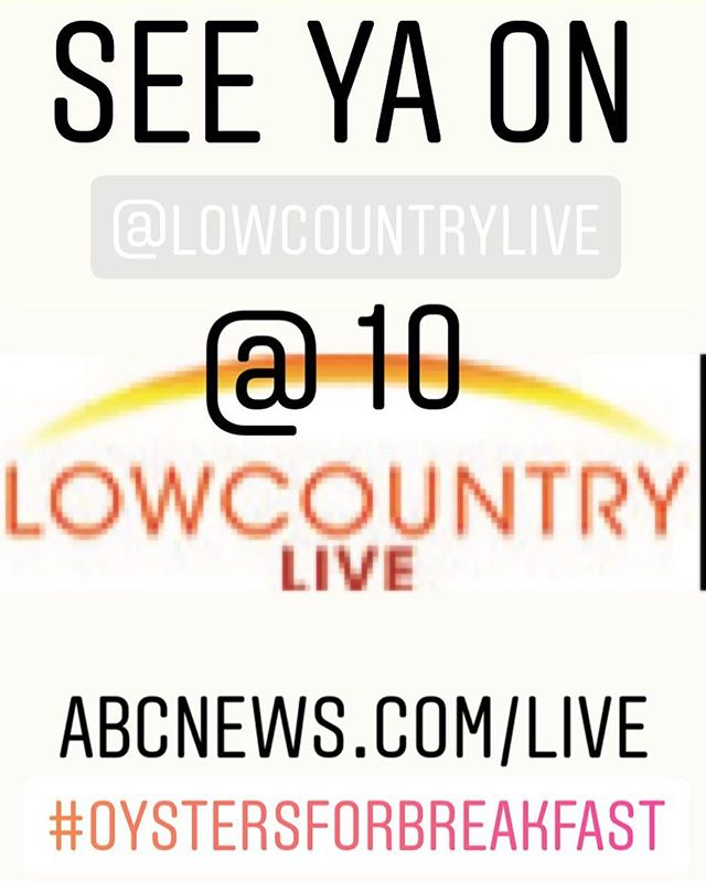 So excited to watch Matt Lee of the @theleebros make our oysters this morning on @lowcountrylive ! Plus a possible guest appearance by @caitlynlovesrocks ! Only one way to find out!!! Stay tuned and watch http://abcnews/live.com to learn some great oyster recipes and history! #breakfastgoals #oystersforbreakfast #almostfamous #shucked #oysters #mornings #local #charleston