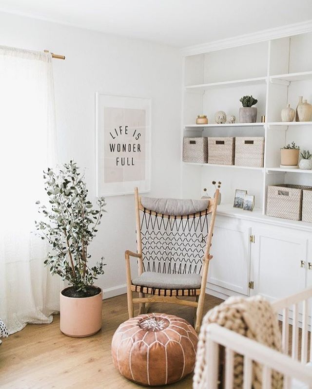@Kelli_murray offers a beautiful design. This design shows A beautiful choice of contrasting creams. Color can effect a child's environment. Light cool colors can create a calming effect on children. Layering shades of cream with textiles can offer softness, warmth and security. . . . #intention #intentionalliving #intentionalparenting #nursery #designinspo #design #childdecor #children #childdevelopment #bohemian #color