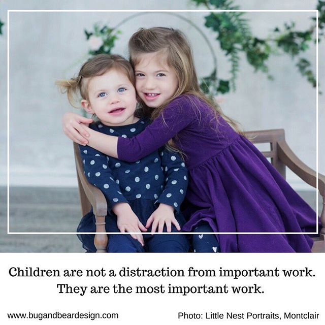 Children are not a distraction from more important work. They are the important work. @littlenestmontclair . . #intention #intentionalliving #intentionalparenting #littlenestmontclair #design #children #childdecor #childdevelopment #learnthroughplay