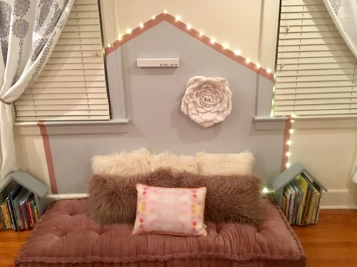 CREATED A COZY SPOT TO RETREAT AND REFRESH  Research has shown that the ability to self-regulate is essential to the development of a child. Creating a cozy and inviting space for your child provides them with a space to retreat and refresh their mind and body