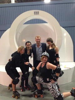 Outfit skaters with Kevin McKidd for the Queen Latifah show