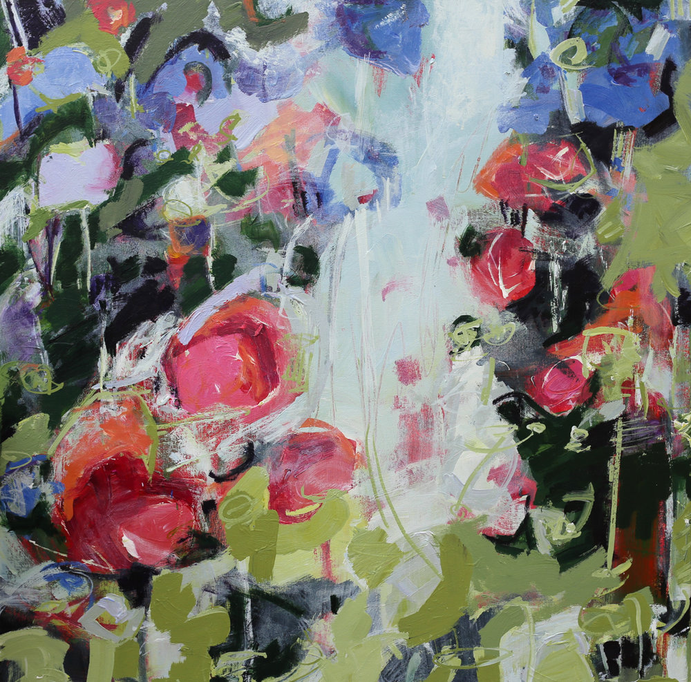Green Rhapsody abstract painting by elizabeth chapman m.jpg