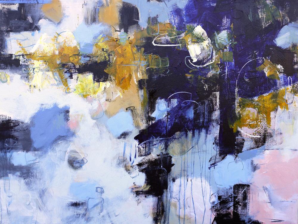 Juxtapose 30 x 40 canvas, Acrylic