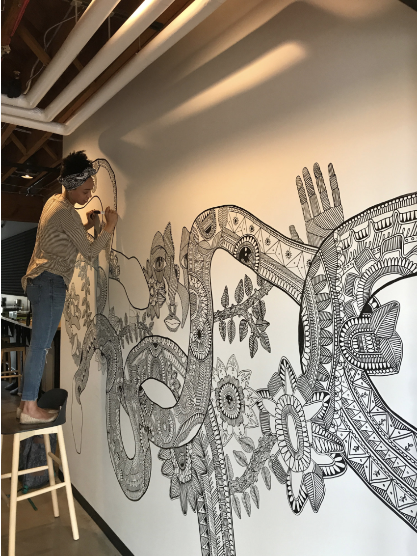 Almendinger Building Wall #2 | Ann Arbor, MI | 2017